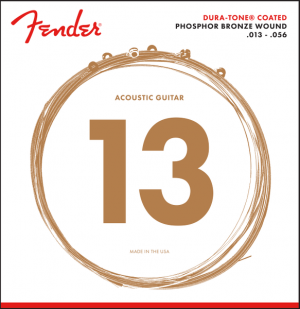Fender 860M Dura-Tone Coated Phosphor Bronze Acoustic Guitar Strings 13-56