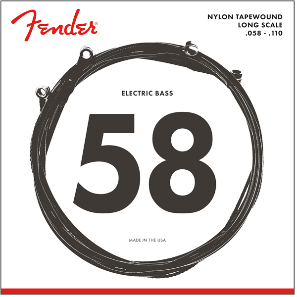 Fender 9120M Nylon Tapewound Long Scale Bass Strings - .058 - .110