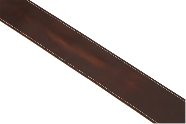 Fender Broken-In Leather Guitar Strap - Brown 2.5""