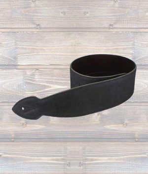 "Leathergraft 2.5"" Softy Leather Guitar Strap - Black"