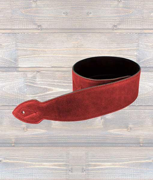 "Leathergraft 2.5"" Softy Leather Guitar Strap - Red"