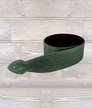 "Leathergraft 2.5"" Softy Leather Guitar Strap - Green"