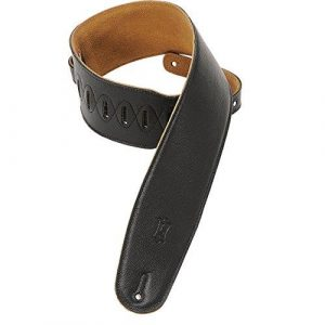 "Levy's 3.5""M4GF Leather Padded Strap - Black"