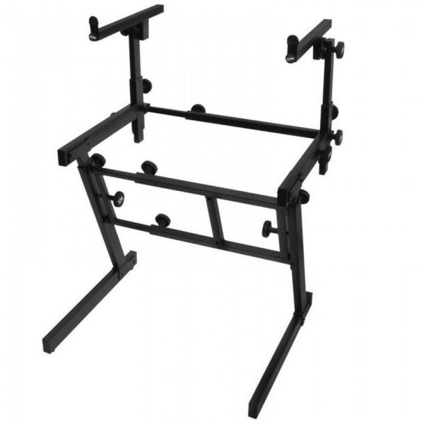 On Stage Stands Pro Heavy-Duty Folding-Z Keyboard Stand with 2nd Tier