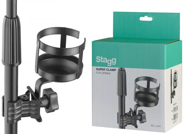 Stagg SCL-CUH Super Clamp Mic Cup Drinks Holder