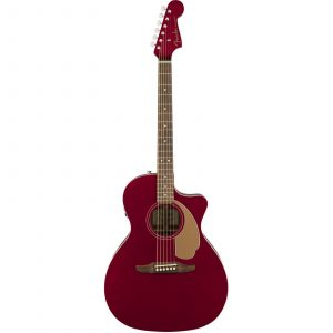 Fender Newporter Player Electro-Acoustic Guitar- Candy Apple Red