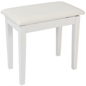 Kinsman Piano Bench with Storage - Satin White