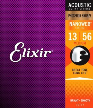 Elixir 92/8 Phosphor Bronze Acoustic Sets / Medium .13-.56