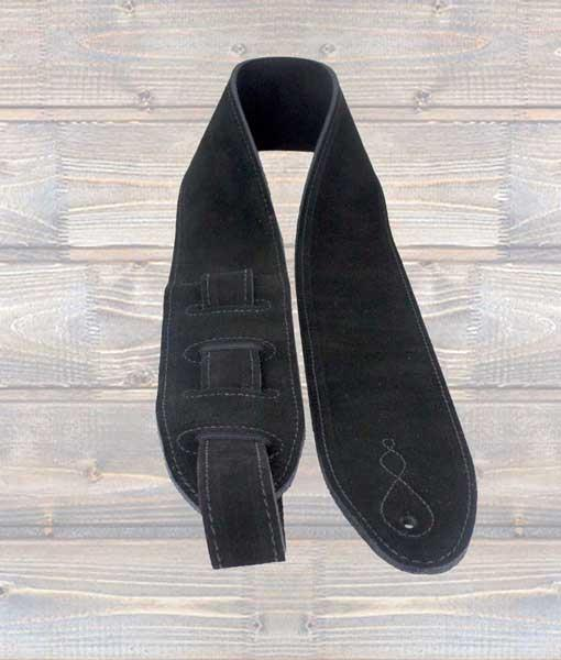 "Leathergraft ""The Comfy"" Black Suede Guitar Strap"