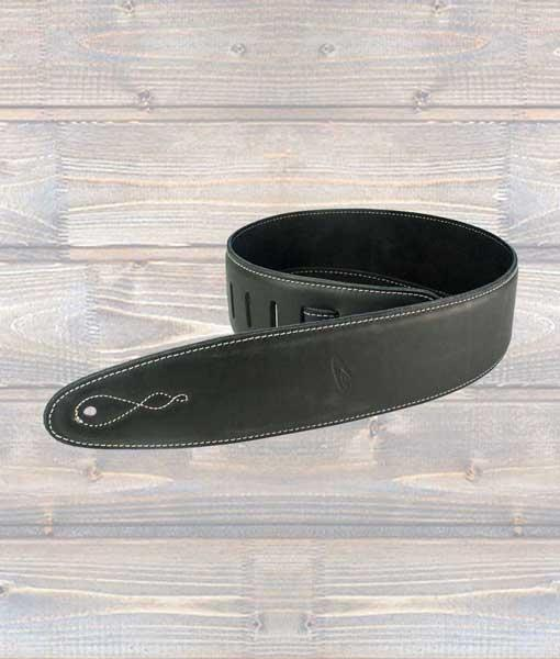 Leathergraft Pro Deluxe Leather Guitar Strap with Black Suede
