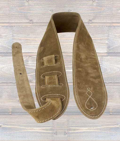 Leathergraft 'The Comfy' Beige Suede Guitar Strap