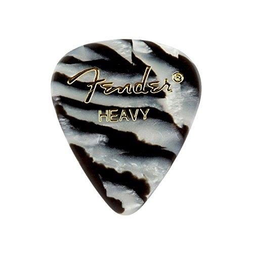 Fender Pickpack Graphic Zebra Picks 12pk Heavy Plectrums