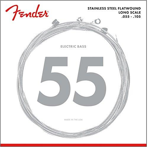 Fender Stainless 9050M FLATWOUND Bass Guitar Strings - 55-105