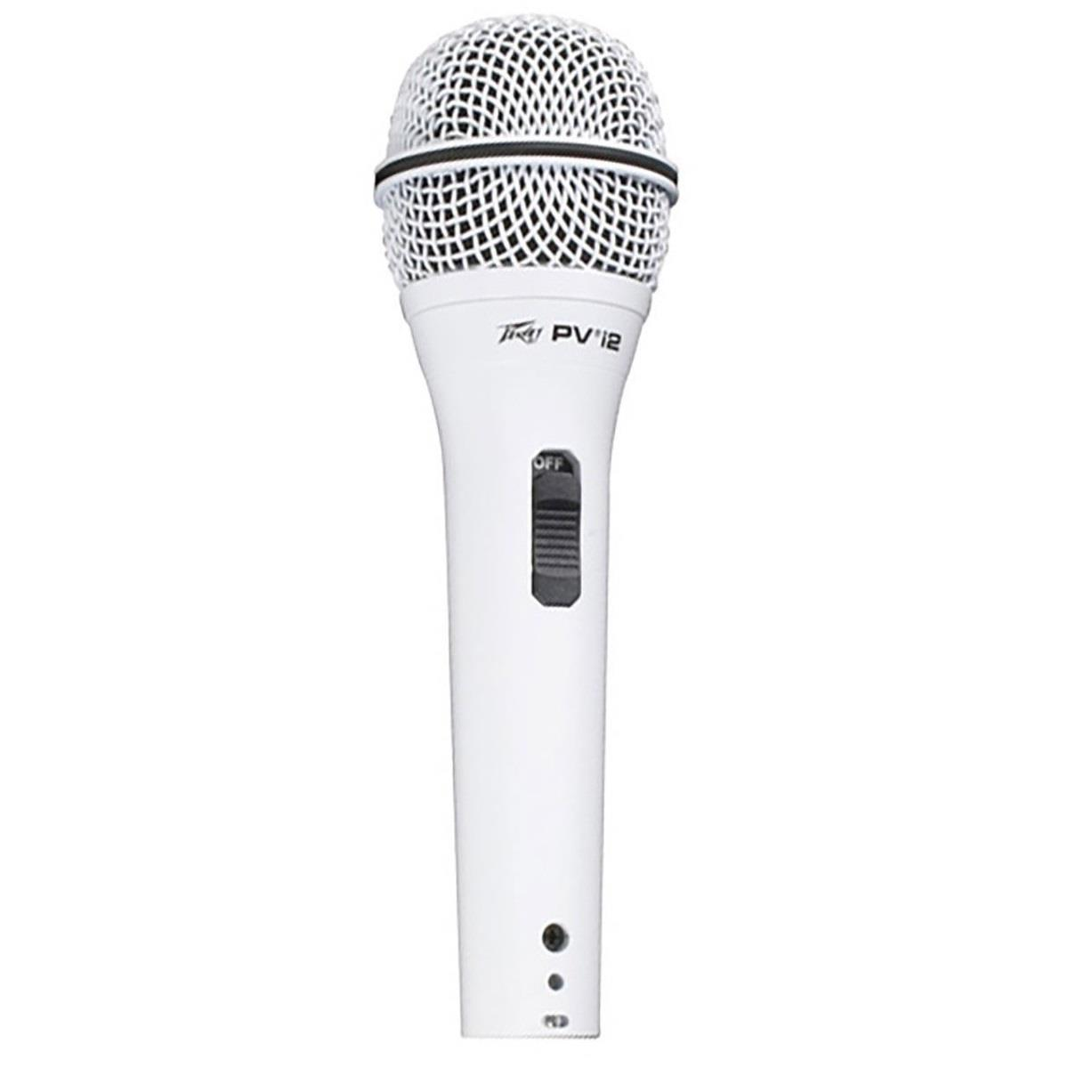 Peavey PVi 2 Microphone with XLR to XLR Cable – White