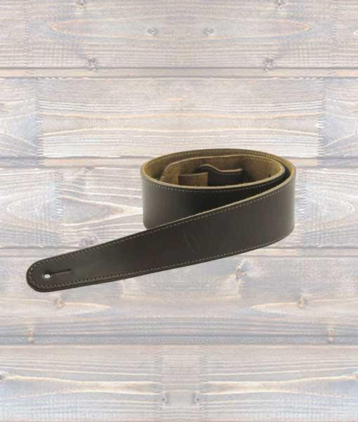 Leathergraft Heavy Hide Guitar Strap Extra Long - Brown
