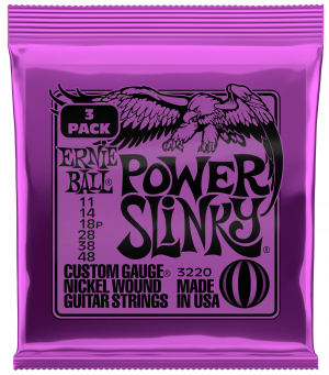 Ernie Ball Power Slinky Electric Guitar Strings 3 SETS 11-48
