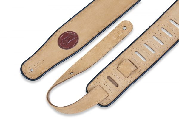 "Levy's MSS3-TAN 2.5"" Suede Guitar Strap piping - Tan"