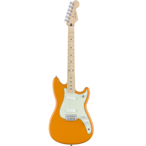 Fender Duo-Sonic Maple Fingerboard Electric Guitar - Capri Orange