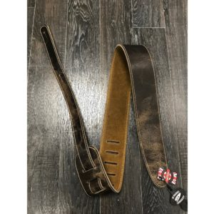 "Leathergraft 2.5"" Road Worn Leather Guitar Strap - Taupe"