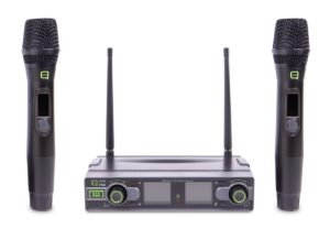 Q Audio QWM 1950 HH Channel 70 UHF Diversity Dual Wireless Microphone System 863/865MHz