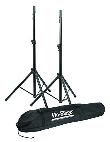 On Stage Stands SSP7950 Pair All Aluminium Speaker Stand with Carry Bag