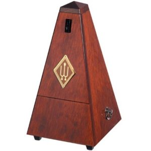 Wittner Pyramid Metronome Wooden Mahogany Colour With Bell