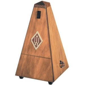 Wittner Pyramid Metronome Wooden Walnut Colour With Bell