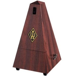 Wittner Pyramid Metronome Plastic Mahogany Colour - With Bell