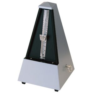 Wittner Pyramid Metronome Plastic Silver With Bell