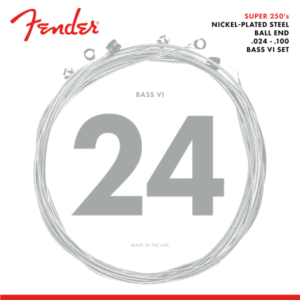 Fender Super 250 Bass VI Nickel-Plated Steel Ball End Strings - 24-100
