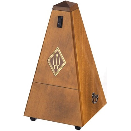Wittner Pyramid Metronome Wooden Walnut Colour High Polish w/Bell