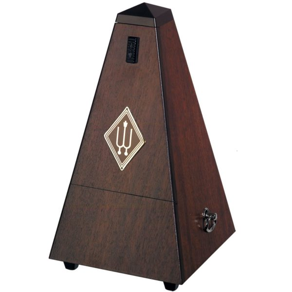 Wittner Pyramid Metronome Genuine Walnut High Polish w/Bell