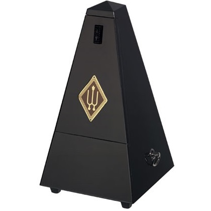 Wittner Pyramid Metronome Wooden Black Highly Polished With Bell