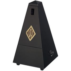 Wittner Metronome Wooden Black Matt Silk With Bell