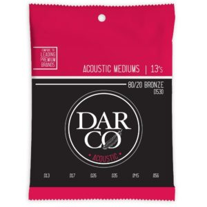 Darco by Martin 80/20 Bronze Acoustic Guitar Strings - Medium 13-56