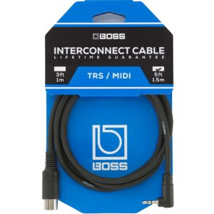 Boss 5ft/1.5m Angled 3.5mm Male TRS - 5-pin Male Midi Cable