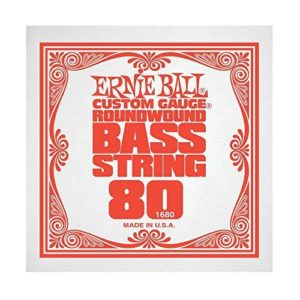 Ernie Ball Roundwound Bass String (1680) - Single .80