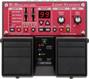 Boss RC-30 Loop Station - Dual Track Looper + 2 Patch Cables