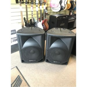 QTX QS12A Active PA Speakers x 2 - Second Hand