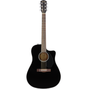 Fender CD-60SCE Dreadnought Electro Acoustic Guitar - Black B-Stock
