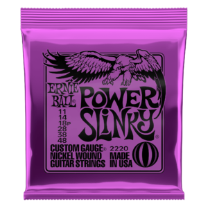 Ernie Ball Power Slinky - Electric Guitar Strings Set 11-48