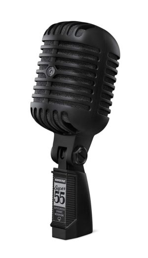 Shure SUPER 55-BLK Pitch Black 'Rock n Roll' Style Microphone