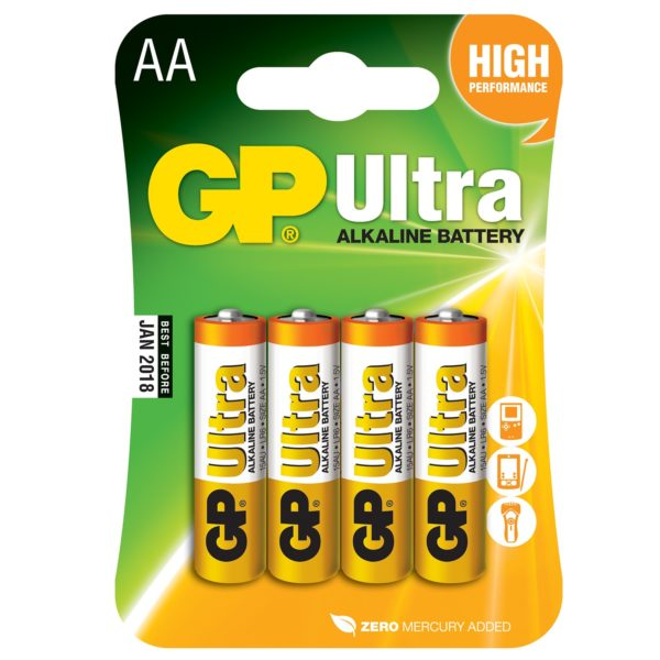 GP Ultra Batteries 4x AA