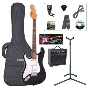 Encore E6 Electric Guitar Pack- Left Handed Gloss Black