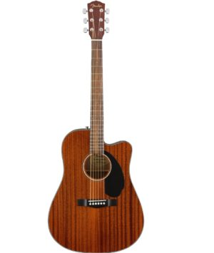 Fender CD-60SCE All Mahogany Solid Top Electro Acoustic Dreadnought Guitar