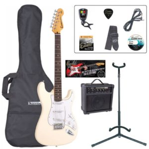 Encore E6 Electric Guitar Pack - Vintage White