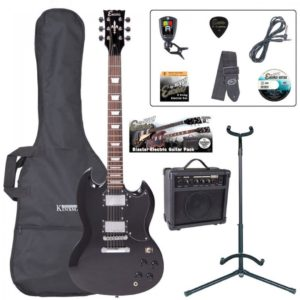 Encore E69 Electric Guitar Pack - Gloss Black