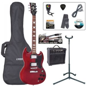Encore E69 Electric Guitar Pack - Cherry Red