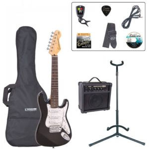 Encore E375 3/4 Size Electric Guitar Pack - Gloss Black