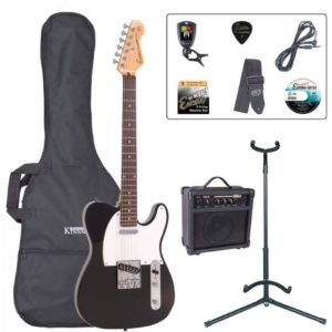 Encore E2 Electric Guitar Pack - Gloss Black